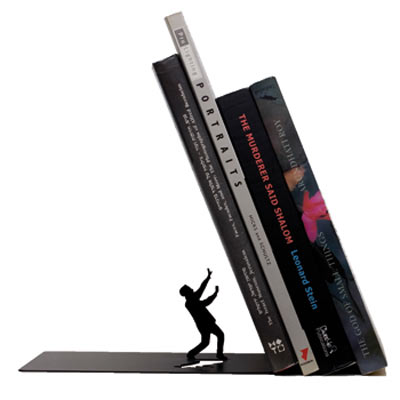 unique gifts falling bookend