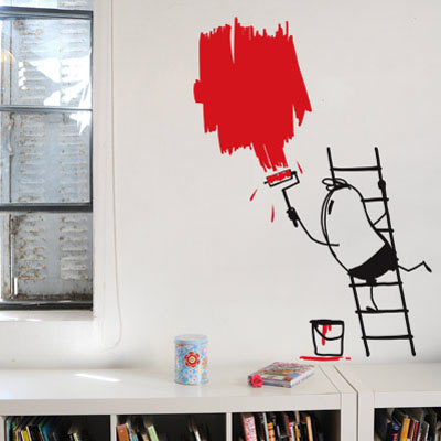 painter wally wall decal