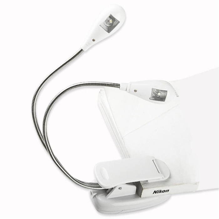 Clip-On Double-headed LED Booklight