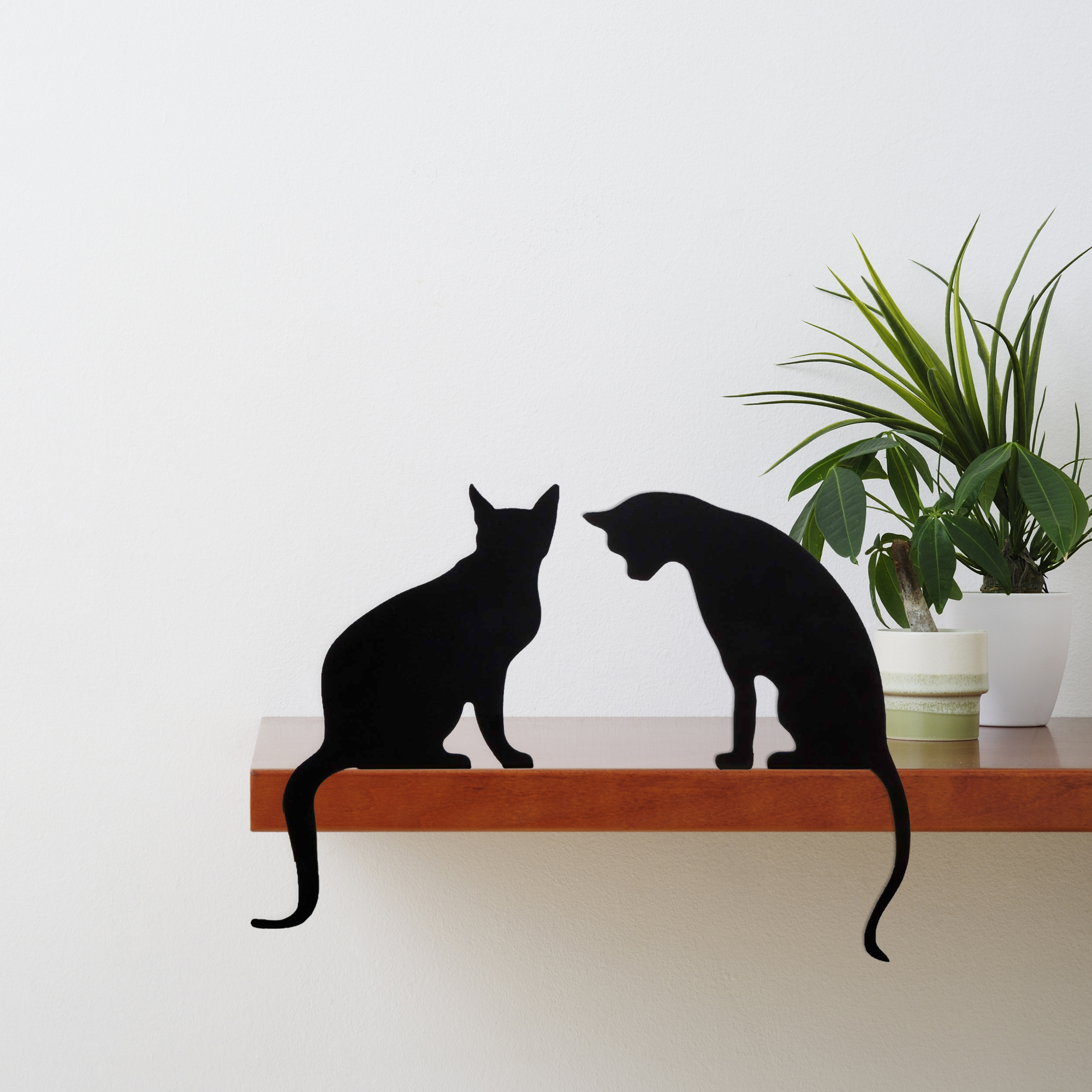 Duo Meow - Two Decorative Cat Silhouettes