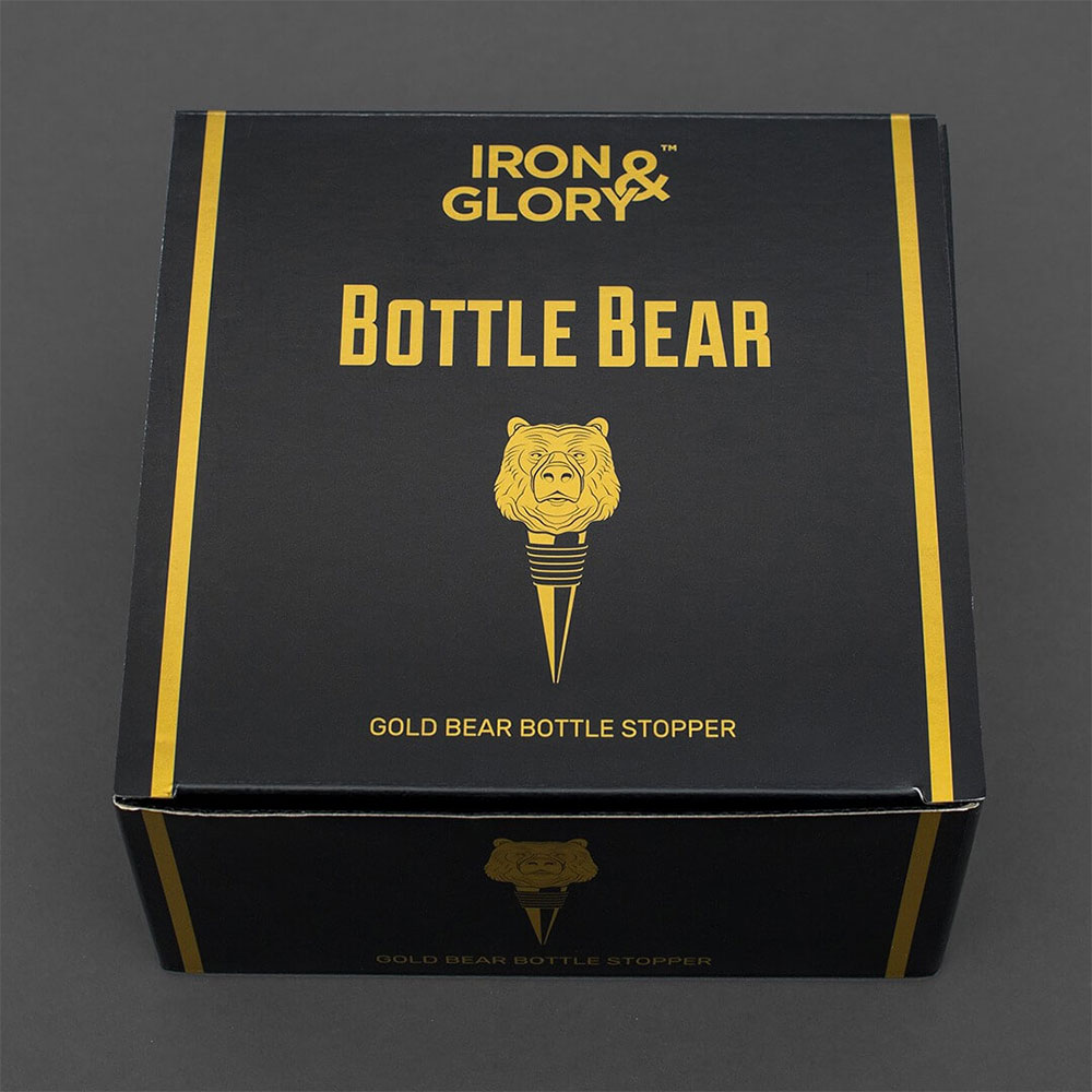 Bottle Bear - Gold Bear Bottle Stopper