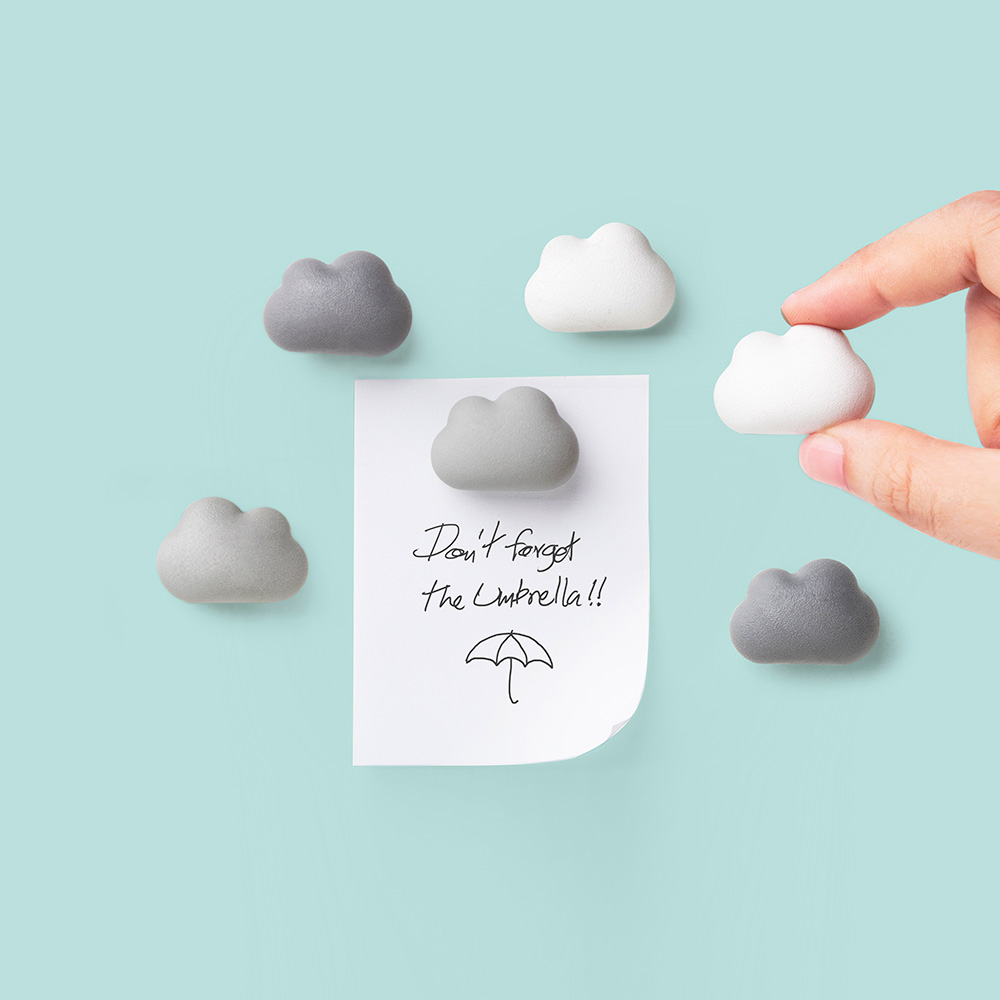 Note On The Cloud - 6 Magnets