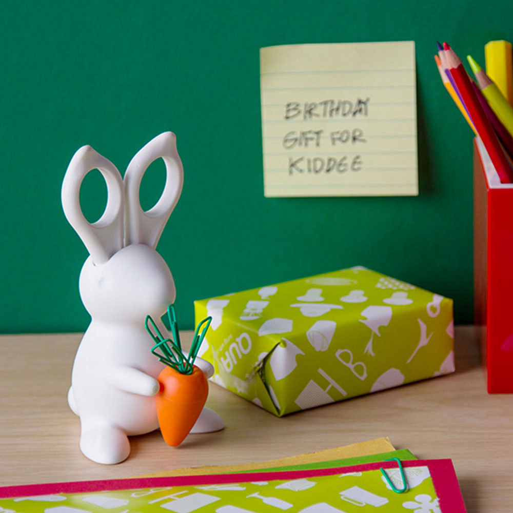 Desk Bunny - Scissors & Paper Clips Holder