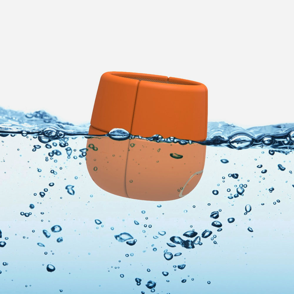 Lexon Mino X - Floating Bluetooth Speaker Orange