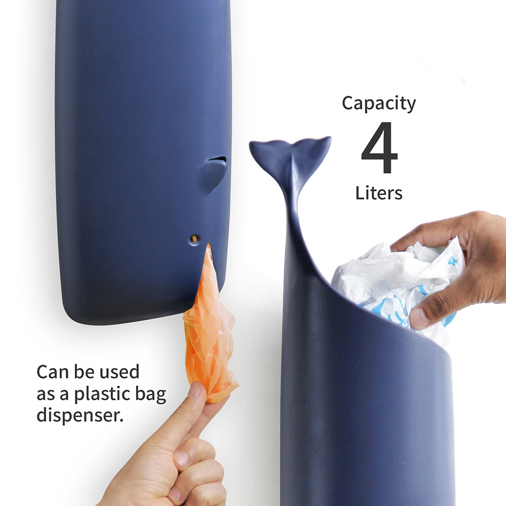 Moby Whale - Plastic Bag & Toilet Paper Holder