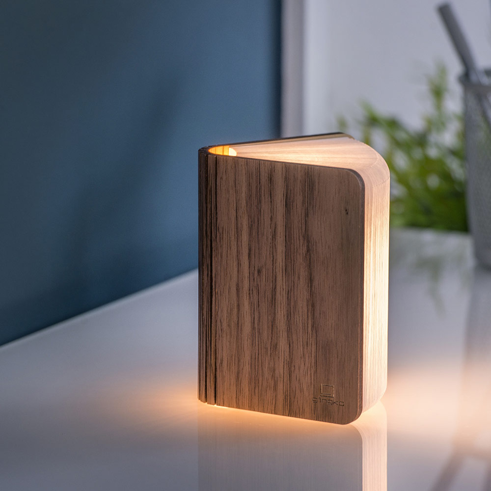Mini Smart Book Light - Walnut
