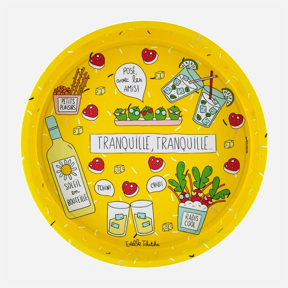 Tranquille Round Metal Tray