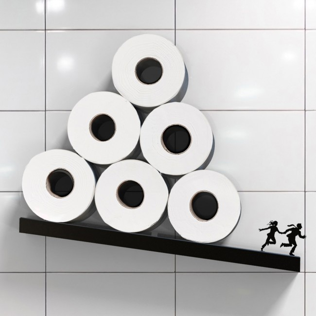 Avalanche - A Diagonal Shelf for Toilet Paper Rolls