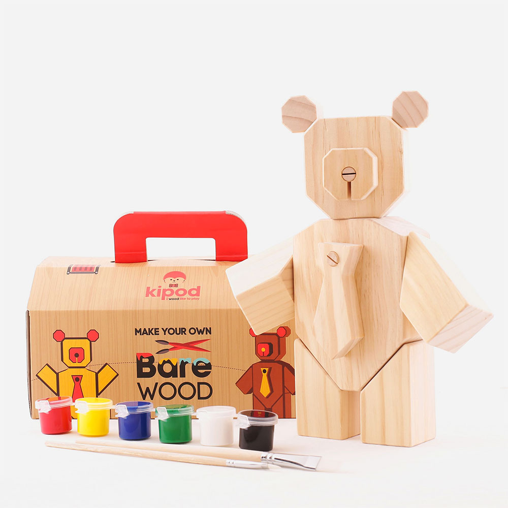 Bare Wood - Wooden Bear