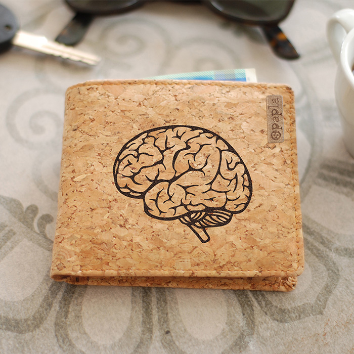 Cork Wallet - Brain