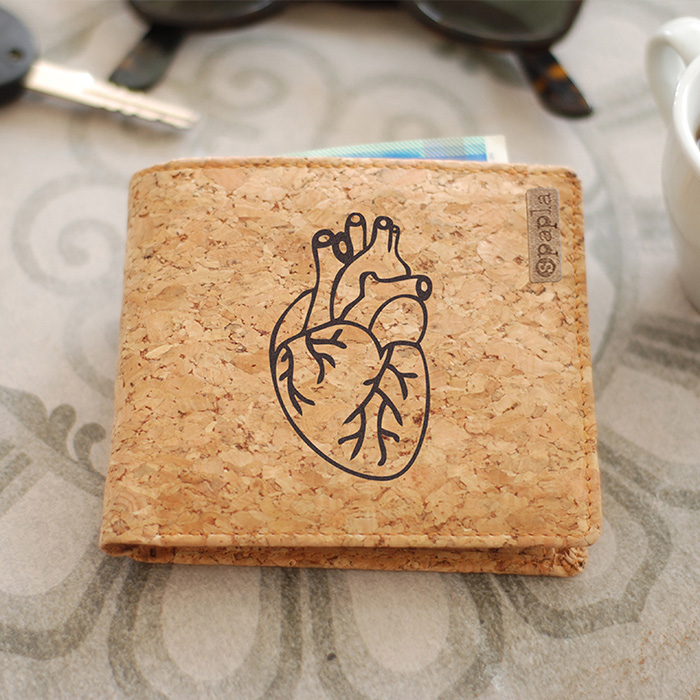 Cork Wallet - Heart