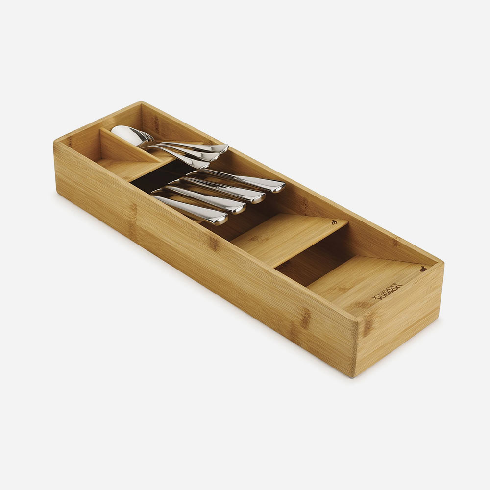 DrawerStore Bamboo Compact Cutlery Organiser