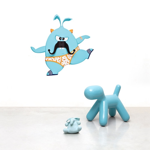 Esteban Mustache Monster - Wall Decal Hanger