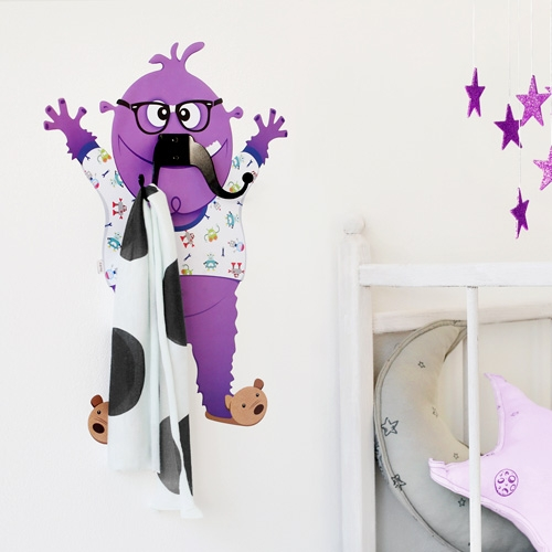 George Mustache Monster - Wall Decal Hanger