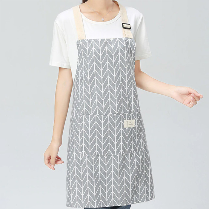 Grey Linen & Cotton Apron