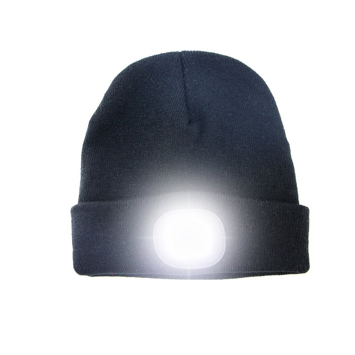 Knitted Hat With Rechargeable LED Light