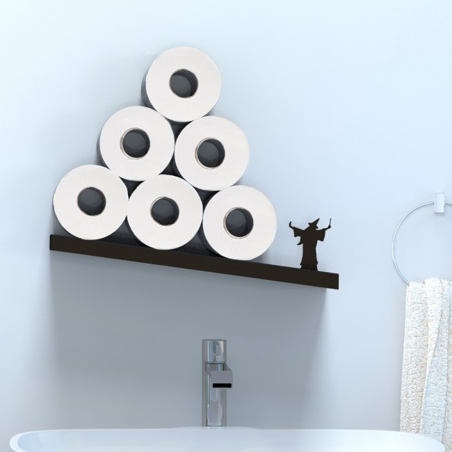 Merlin - A Diagonal Shelf for Toilet Paper Rolls