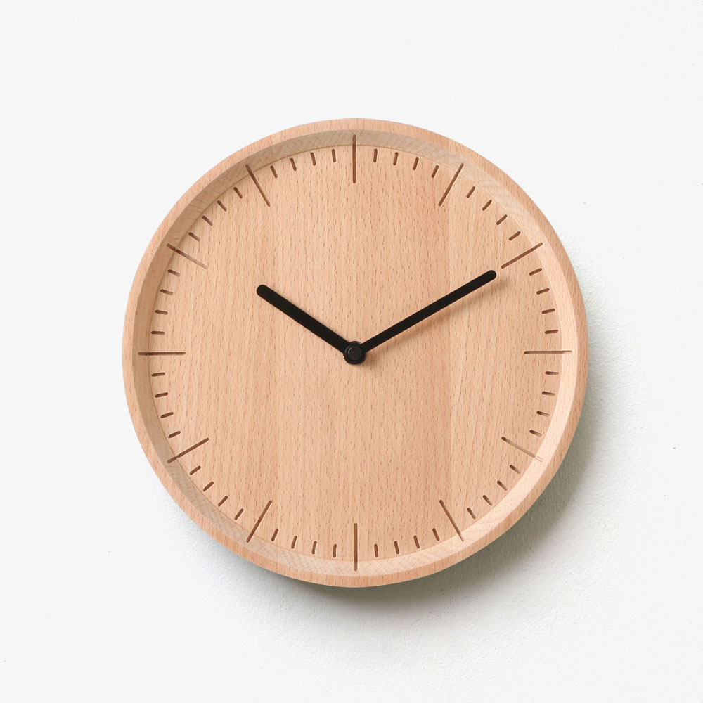 Meter - Natural Solid Wood Wall Clock