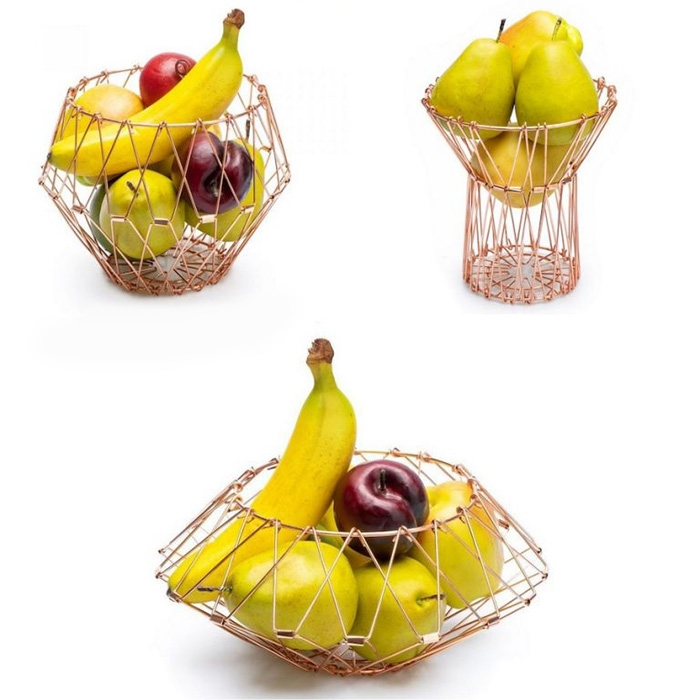 Multi Form Fruit Basket Gold