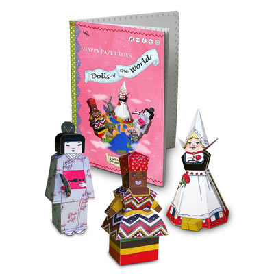 PaperCat Folding Figures-Dolls of the world