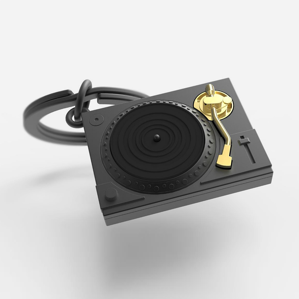 Record Player Key Ring