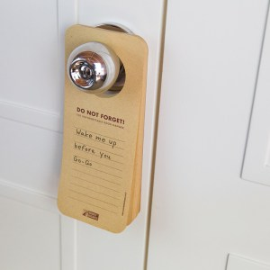 Doorhanger Notepad
