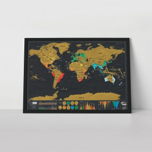 Scratch Map Deluxe -  Travel Edition