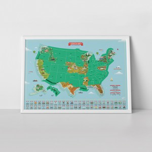 Scratch Map® USA Landmarks