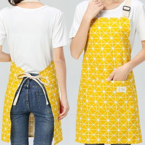 Yellow Linen & Cotton Apron