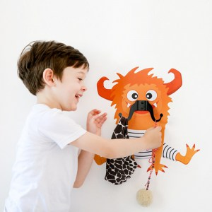 Zooey Mustache Monster - Wall Decal Hanger
