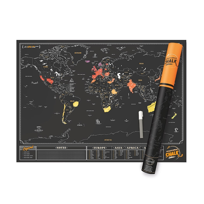 Scratch Map Chalk Edition