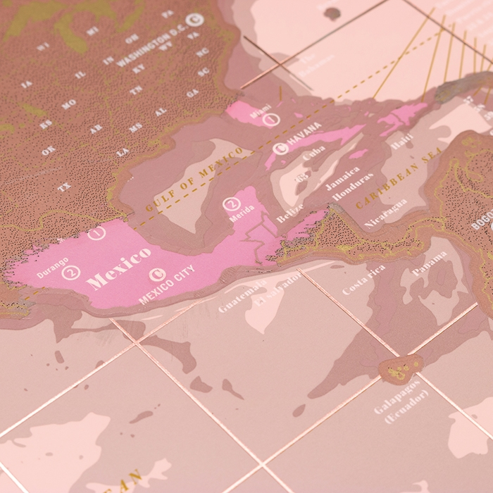 Scratch Map® Rose Gold
