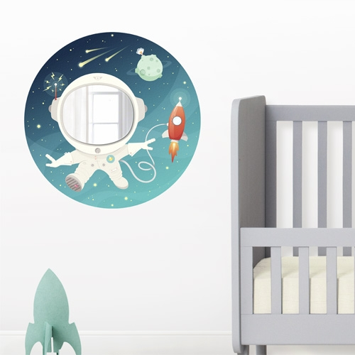Space Kid - Wall decal and Mirror