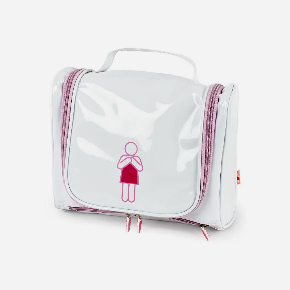 White Travel Toiletry Bag
