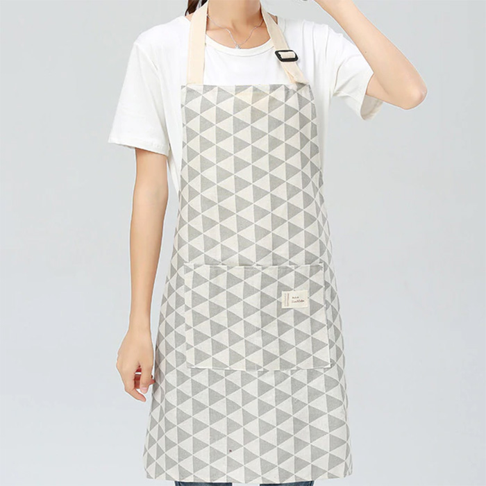 Triangles Linen & Cotton Apron