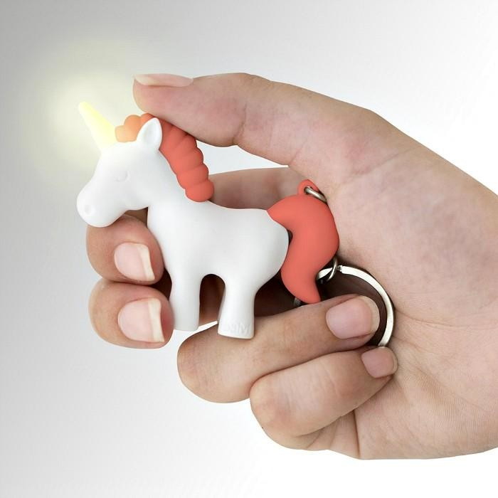 Unicorn Keyring with Sound and Light
