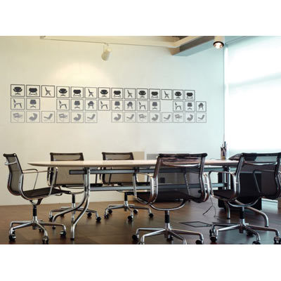 Wall Decals - Modern Chairs