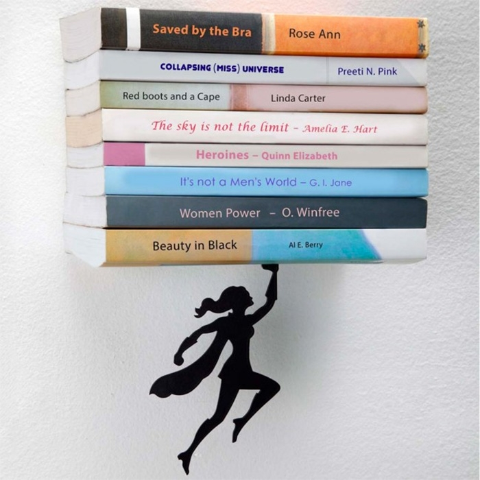 Supercouple Floating Bookshelves