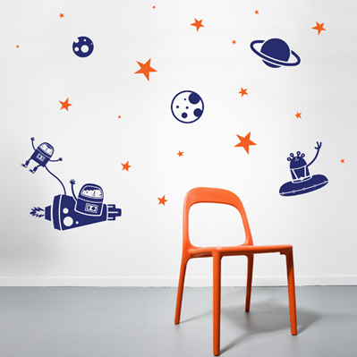 Astro wall decal
